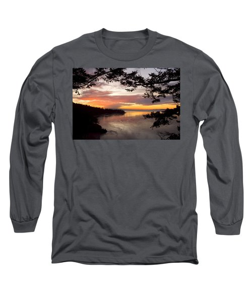 Ocean Sunset Deception Pass Long Sleeve T-Shirt