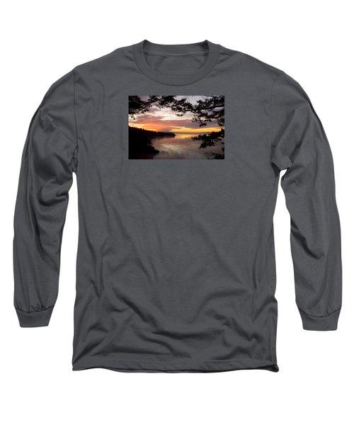 Ocean Sunset Deception Pass Long Sleeve T-Shirt