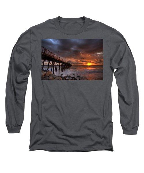Oceanside Pier Perfect Sunset Long Sleeve T-Shirt