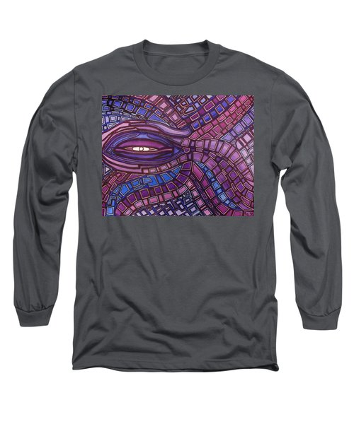 Long Sleeve T-Shirt featuring the painting Octopus Eye by Barbara St Jean