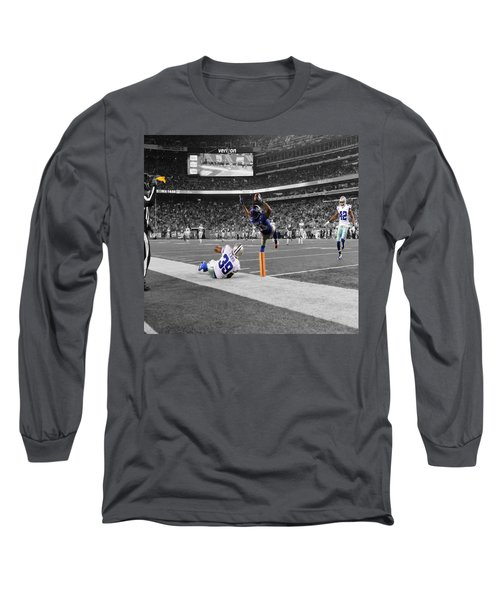 Odell Beckham Breaking The Internet Long Sleeve T-Shirt by Brian Reaves