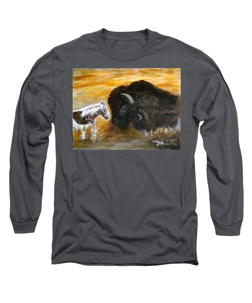 Long Sleeve T-Shirt featuring the painting Of Proud Heritage by Barbie Batson