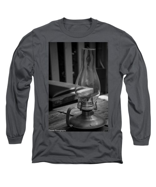 Long Sleeve T-Shirt featuring the digital art Oil Lamp by Gandz Photography