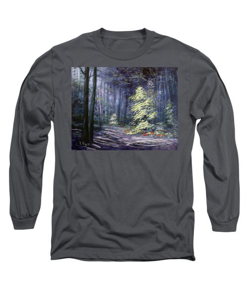 Oil Painting - Forest Light Long Sleeve T-Shirt
