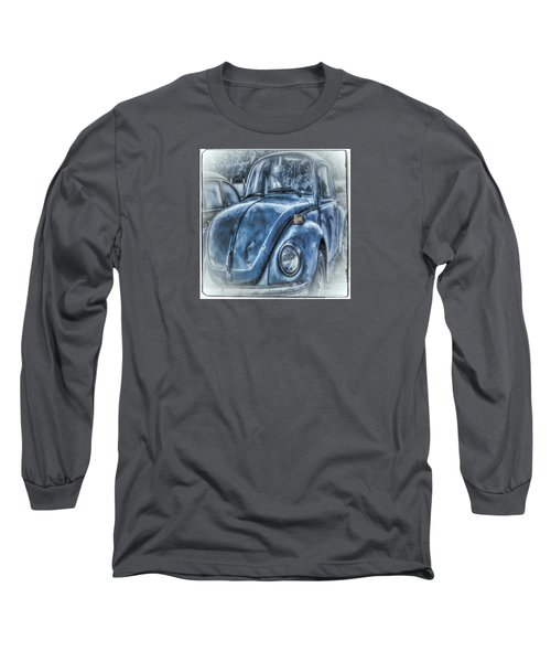 Long Sleeve T-Shirt featuring the photograph Old Blue Bug by Jean OKeeffe Macro Abundance Art