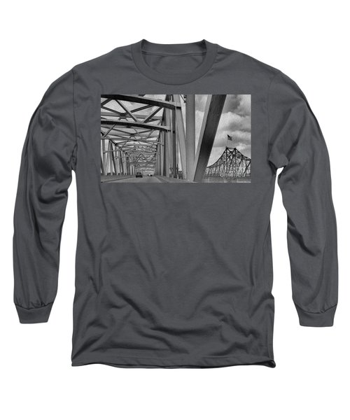 Long Sleeve T-Shirt featuring the photograph Old Bridge New Bridge by Janette Boyd