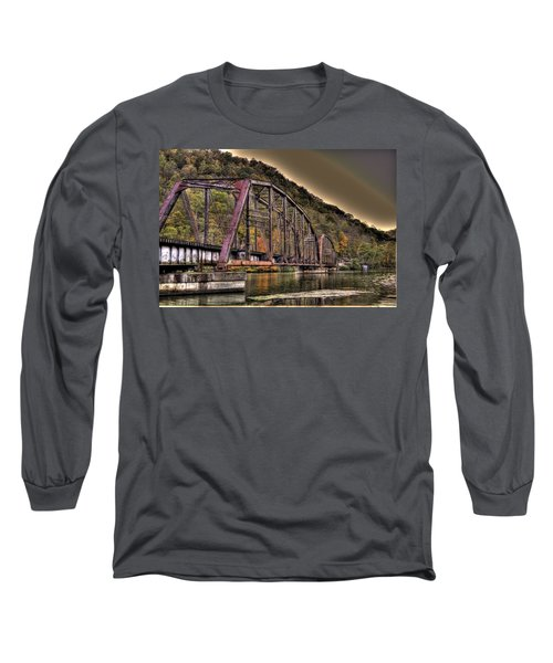 Long Sleeve T-Shirt featuring the photograph Old Bridge Over Lake by Jonny D