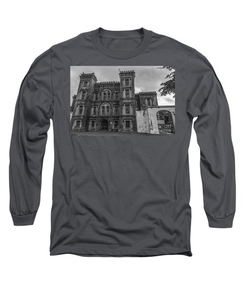 Old City Jail In Black And White Long Sleeve T-Shirt