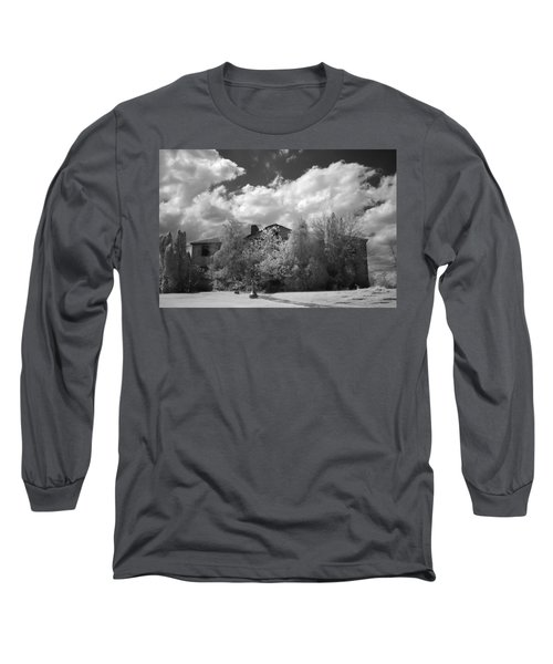 Long Sleeve T-Shirt featuring the photograph Old Coast Guard Barracks On Winter Island by Jeff Folger