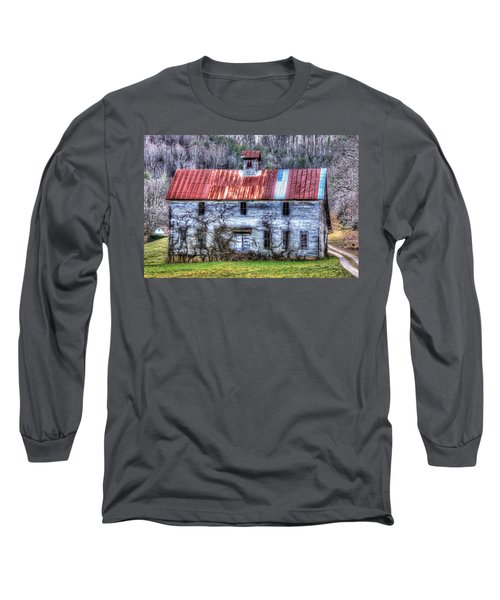 Old Country Schoolhouse Long Sleeve T-Shirt by Tom Culver