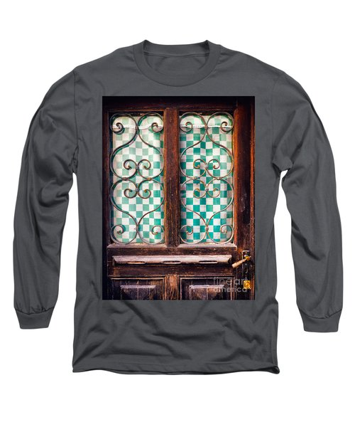 Long Sleeve T-Shirt featuring the photograph Old Door by Silvia Ganora