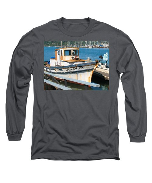 Old Fishing Boat In Sausalito Long Sleeve T-Shirt by Connie Fox