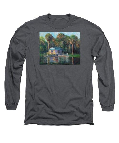 Old Florida Morning At Salt Springs Long Sleeve T-Shirt