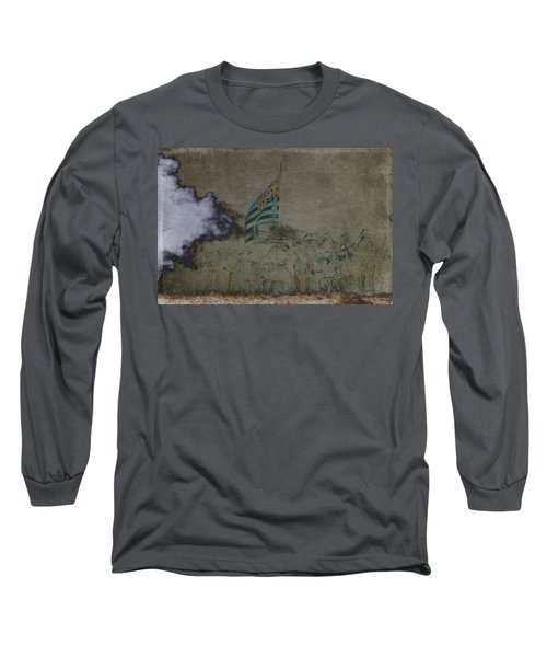 Old Glory Standoff Long Sleeve T-Shirt by Wes and Dotty Weber