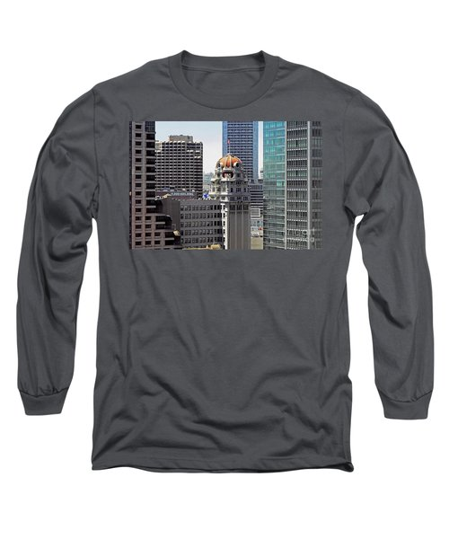 Long Sleeve T-Shirt featuring the photograph Old Humboldt Bank Building In San Francisco by Susan Wiedmann