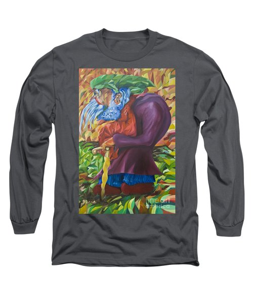 Old Man Collecting Sticks - But Not On The Sabbath Long Sleeve T-Shirt