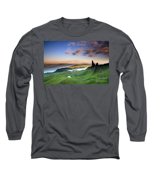 Long Sleeve T-Shirt featuring the photograph  Scotland Old Man Of Storr Isle Of Skye by Mariusz Czajkowski