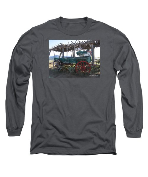 Long Sleeve T-Shirt featuring the photograph Old Native American Wagon by Dora Sofia Caputo Photographic Art and Design