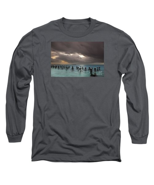 Old Pier In The Florida Keys Long Sleeve T-Shirt by Keith Kapple