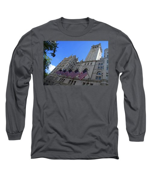 The Old Post Office Or Trump Tower Long Sleeve T-Shirt by Cora Wandel
