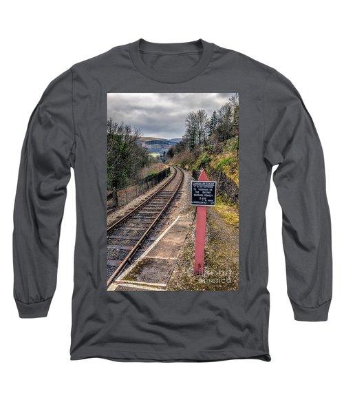 Old Railway Sign Long Sleeve T-Shirt