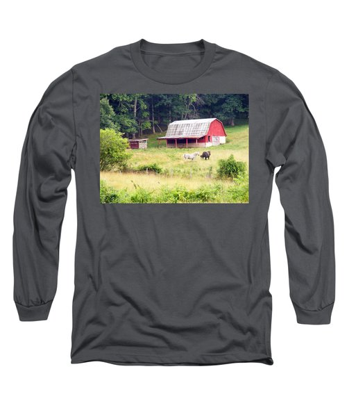 Old Red Barn West Of Brevard Nc Long Sleeve T-Shirt