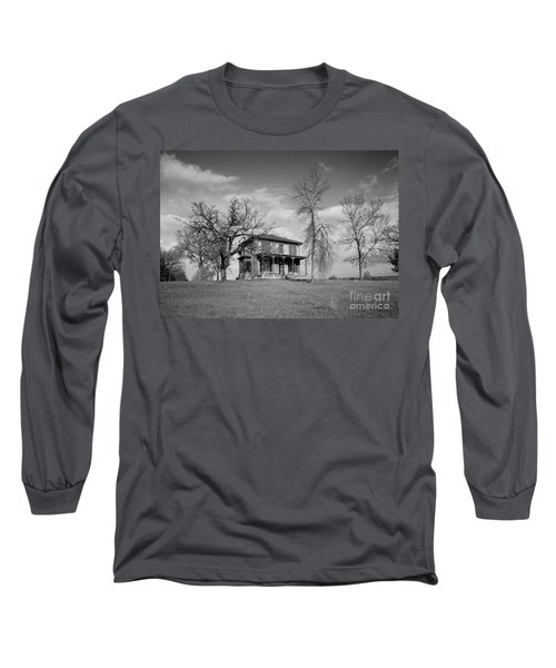 Old Rustic House On A Hill Long Sleeve T-Shirt