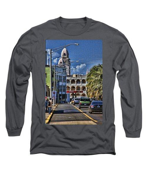 Old San Juan Cityscape Long Sleeve T-Shirt