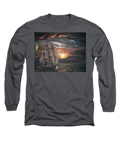 Old Ship Of The Sea Long Sleeve T-Shirt by Peter Suhocke