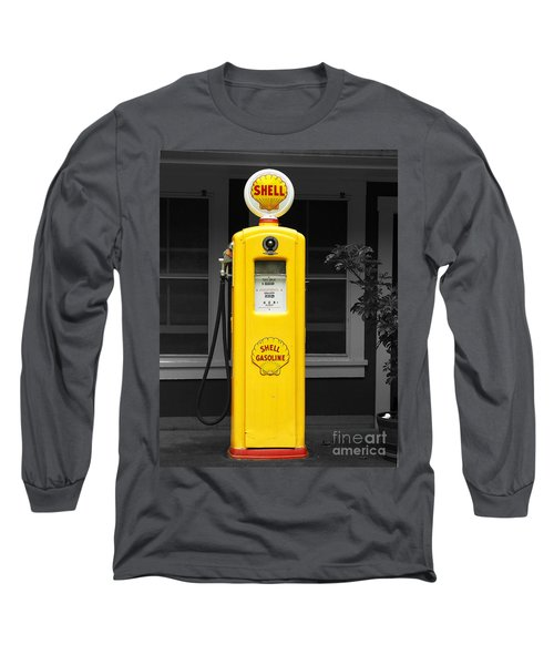 Long Sleeve T-Shirt featuring the photograph Old Time Gas Pump by David Lawson