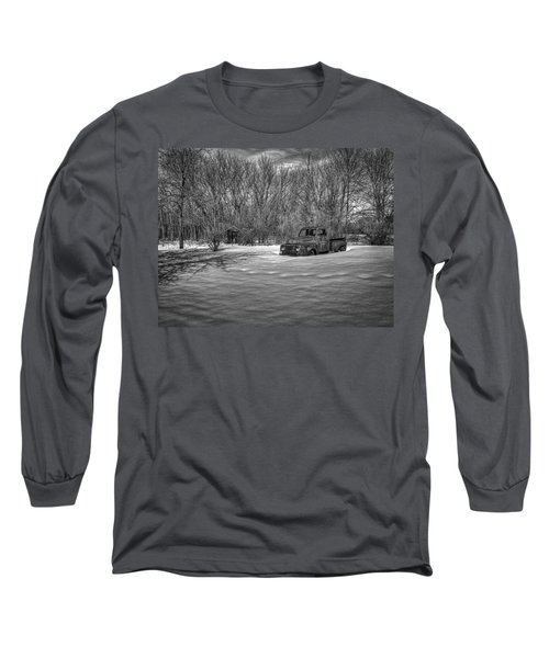 Old Timer In The Snow Long Sleeve T-Shirt