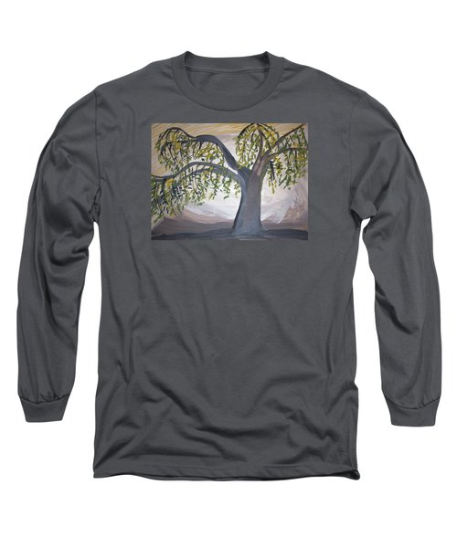 Old Willow Long Sleeve T-Shirt by Cathy Anderson