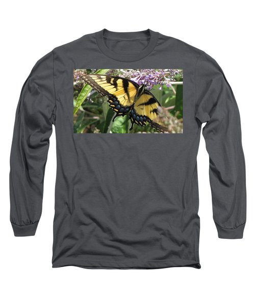 Long Sleeve T-Shirt featuring the photograph Old World Swallowtail by Jennifer Wheatley Wolf