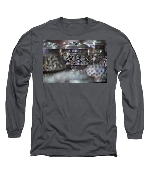 Omani Silver Long Sleeve T-Shirt