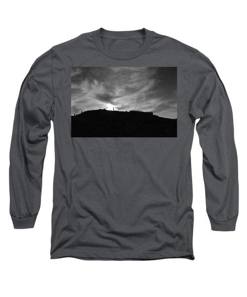 Ominous Sky Over Mt. Washington Long Sleeve T-Shirt