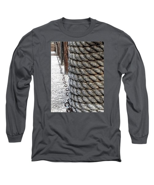 Long Sleeve T-Shirt featuring the photograph On The Marina - Photographic Art by Ella Kaye Dickey