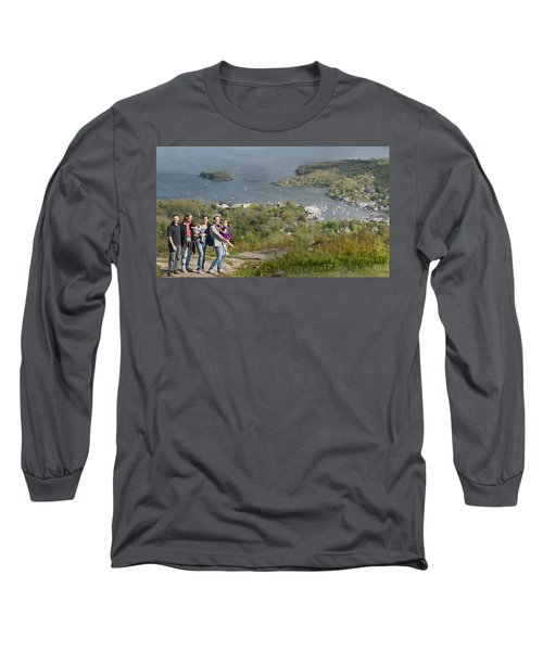 Long Sleeve T-Shirt featuring the photograph On Top Of Mount Battie by Daniel Hebard