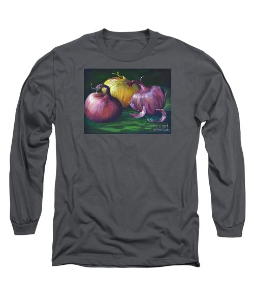 Long Sleeve T-Shirt featuring the painting Onions by AnnaJo Vahle