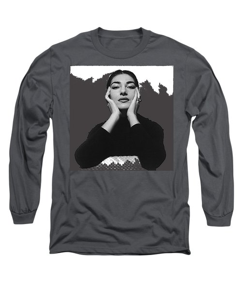 Opera Singer Maria Callas Cecil Beaton Photo No Date-2010 Long Sleeve T-Shirt