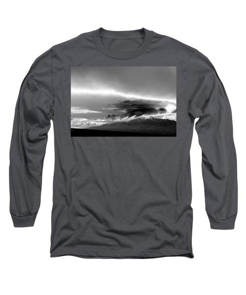 Long Sleeve T-Shirt featuring the photograph Oquirrh Range Utah by Ron White