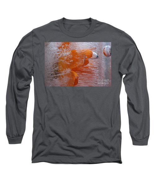 Orange Flower Long Sleeve T-Shirt by Randi Grace Nilsberg