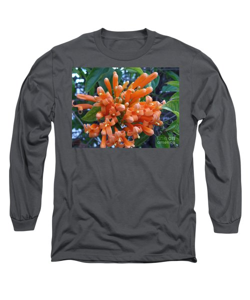 Orange Petals Long Sleeve T-Shirt