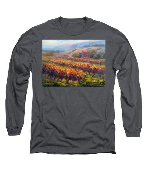 Orange Red Vines Long Sleeve T-Shirt