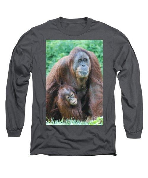 Orangutan Long Sleeve T-Shirt by DejaVu Designs
