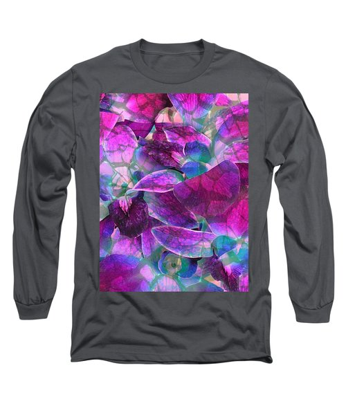 Long Sleeve T-Shirt featuring the photograph Orchid Splash by Diane Alexander