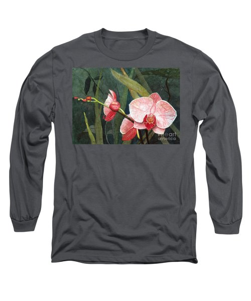 Orchid Trio 2 Long Sleeve T-Shirt by Barbara Jewell