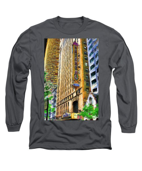 Oriental Theater Of Chicago Long Sleeve T-Shirt by Ely Arsha