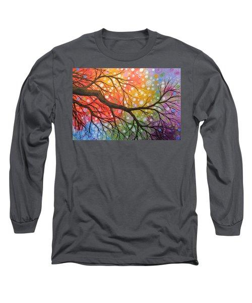 Original Abstract Painting Landscape Print ... Bursting Sky Long Sleeve T-Shirt