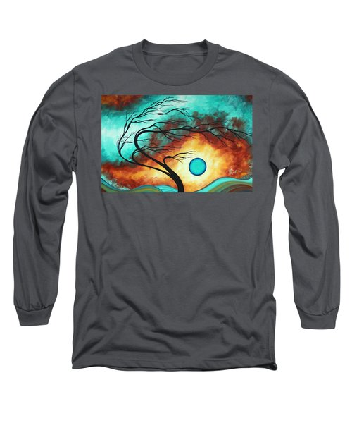 Original Bold Colorful Abstract Landscape Painting Family Joy I By Madart Long Sleeve T-Shirt