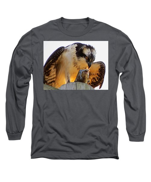 Long Sleeve T-Shirt featuring the photograph Osprey Breakfast by Dianne Cowen